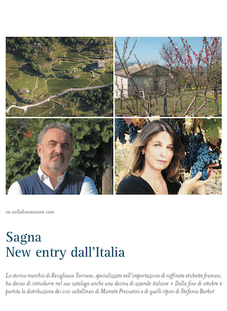 Sagna, New Entry dall'Italia